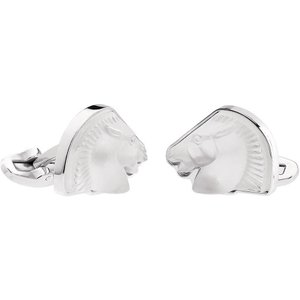 Lalique Cheval Mascottes Clear Cufflinks 10604400