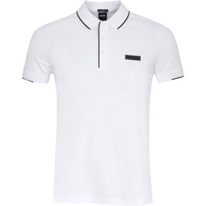 Boss Paul Batch Polo Shirt White Ss21 50448594 100, White