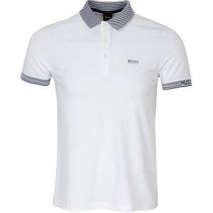 Boss Paule Polo Shirt White Ss20 50419386 101, White