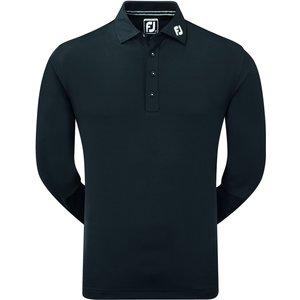 Footjoy Thermolite Long Sleeve Polo Shirt Black Aw20 96954, Black