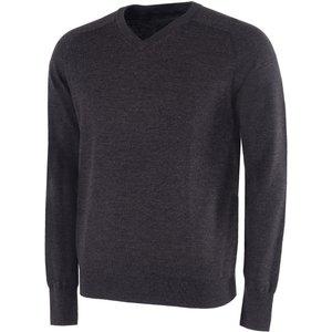 Galvin Green Carl V-neck Sweater Black Ss21, Black