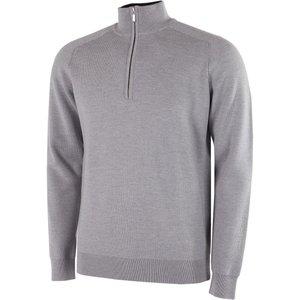 Galvin Green Chester Zip Neck Sweater Grey Ss21, Grey