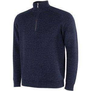 Galvin Green Chester Zip Neck Sweater Blue Ss21, Blue