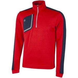 Galvin Green Dwight Insula Half Zip Sweater Red Ss21 G7944 22, Red
