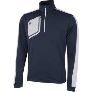 Galvin Green Dwight Insula Half Zip Sweater Blue Ss21 G7944 33, Blue