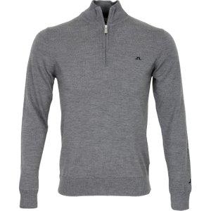 J Lindeberg Kian Tour Merino Sweater Grey Aw20, Grey