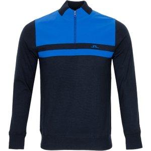 J Lindeberg Mathis Zipped Sweater Blue Aw20, Blue