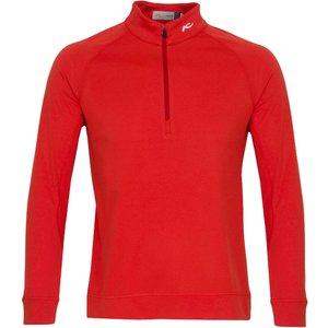 Kjus Keano Half Zip Golf Sweater Red Ss21 Mg25 D04 2037000, Red