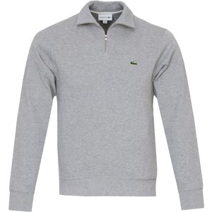 Lacoste 1/4 Zip Core Sweater Grey Ss21 Sh1927 Cca, Grey