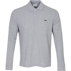 Lacoste Classic Ls Polo Shirt Grey Aw20 L1313 Cca, Grey