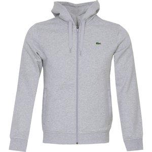 Lacoste Full Zip Hooded Sweater Grey Ss21 Sh1551 9ya, Grey