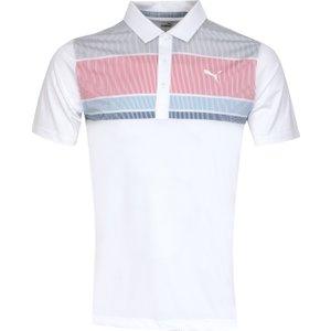 Puma Golf Road Map Polo Shirt White Ss20c 595788 04, White