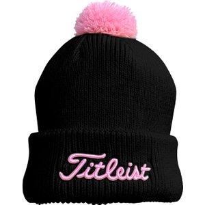 Titleist Ladies Pompom Winter Beanie Hat Black Th20weappble 05, Black