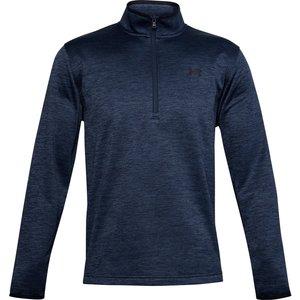Under Armour Fleece Zip Neck Golf Sweater Blue Ss21 1357145 408, Blue