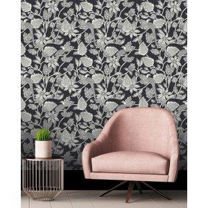 Ted Baker Benga Wallpaper 60cmx10m Black , Black
