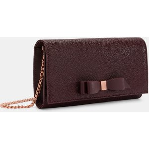 Ted Baker Bow Detail Leather Cross Body Bag Oxblood , Oxblood