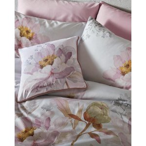 Ted Baker Butterscotch Grey Feather Cushion Pink , Pink