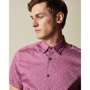 Ted Baker Cotton Floral Shirt Lilac, Lilac