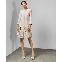 Ted Baker Elegant Textured Dress Coat Pink, Pink