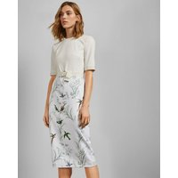 Ted Baker Fortune Belted Bodycon Dress Ivory, Ivory