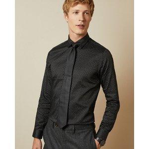 Ted Baker Glitter Geo Print Cotton Shirt Black, Black