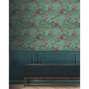 Ted Baker Hibiscus Wallpaper Teal, Teal