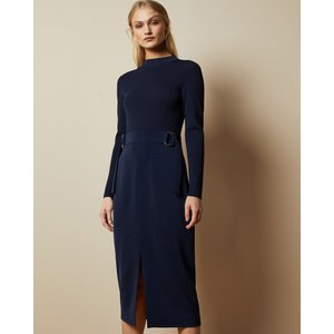 Ted Baker Knitted Mockable D-ring Dress Navy, Navy