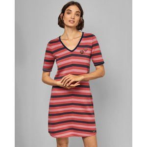 Ted Baker Knitted T-shirt Dress Pink, Pink