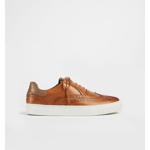 Ted Baker Leather Brogue Trainers Tan , Tan