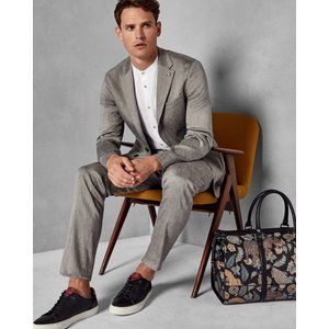 Ted Baker Linen Suit Jacket Taupe, Taupe