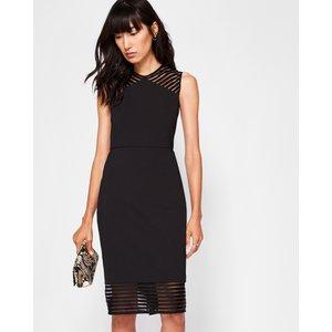 Ted Baker Mesh Detail Bodycon Dress Black, Black