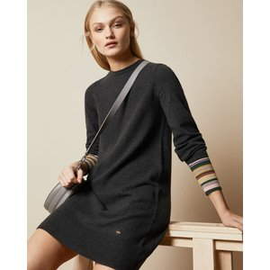 Ted Baker Relaxed Midi Dress Charcoal, Charcoal
