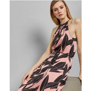 Ted Baker Sour Cherry Halter Neck Dress Pink, Pink