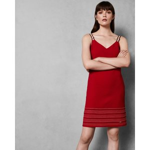 Ted Baker Stitch Detail Dress Red, Red