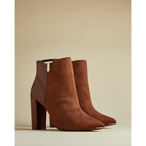 Ted Baker T Detail Suede Ankle Boots Tan, Tan