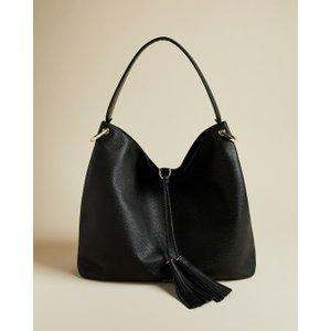 Ted Baker Tasselled Hobo Bag Black , Black