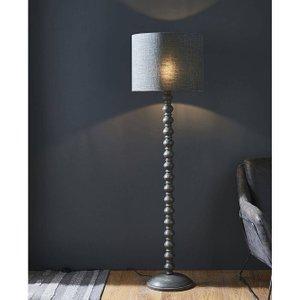 Endon Directory Lighting (poole) 1 Light Floor Light Dark Grey Wash Wood (base Only), E27 90567
