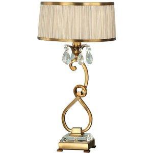 Interiors 1900 Lighting  (poole) 1 Light Medium Table Lamp Antique Brass With Beige Shade, E14 63523