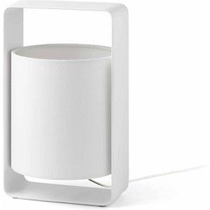 Faro Lighting 1 Light Small Table Lamp White With Shade, E27 Faro28380