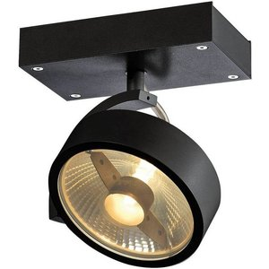 Slv Lighting 1 Light Wall And Ceiling Spotlight, Black, Gu10 Slv1000702