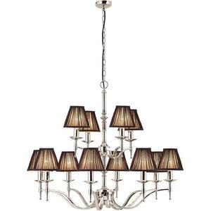 Interiors 1900 Lighting  (poole) 12 Light Multi Arm Chandelier Polished Nickel Plate Finish, E14 63641