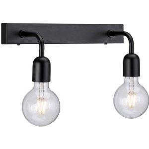 Belid Lighting 2 Light Indoor Wall Light Matt Black, E27 Be530607