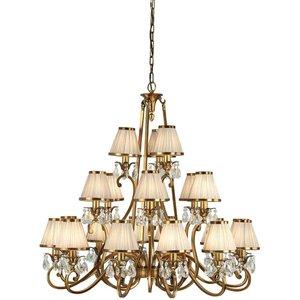 Interiors 1900 Lighting  (poole) 21 Light Multi Arm Chandelier Antique Brass Finish, E14 63519