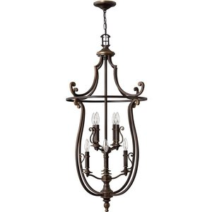 Elstead Lighting 8 Light Ceiling Pendant Olde Bronze, E14 Hk Plymouth8 P