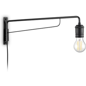 Ideal Lux Lighting Indoor Wall Lamp 1 Light Black, E27 Idl242392