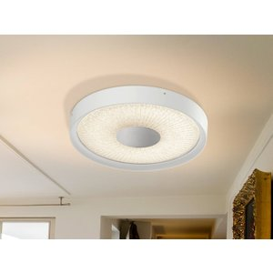 Schuller Lighting Integrated Led Flush Ceiling Light With Remote Control White 590716