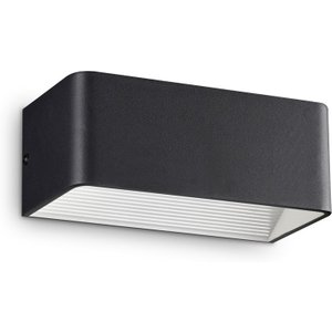 Ideal Lux Lighting Integrated Led Indoor Up Down Wall Lamp 24 Lights Black 3000k Idl243184
