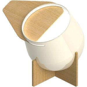Mimaxlight Lighting Integrated Led Table Lamp Lacquered White 35cm E27, 3000k Nice