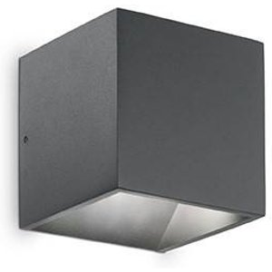 Ideal Lux Lighting Led 1 Light Outdoor Up Down Wall Light Anthracite Ip44 Idl149738