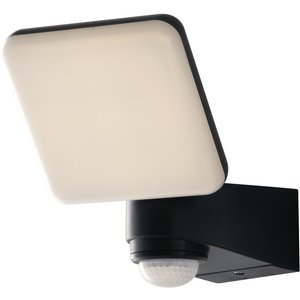 Fan Europe Lighting Outdoor Built-in Led Floodlight With Night And Pir Motion Sensor, Black White, Ip54, 4000k Fan Led Sat 10